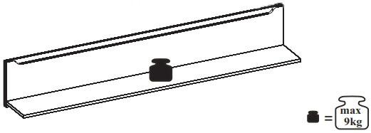 Desjo 31 półka 170 cm wisząca techniczne