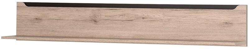 Desjo 31 półka 170 cm wisząca dąb sanremo brąz uni