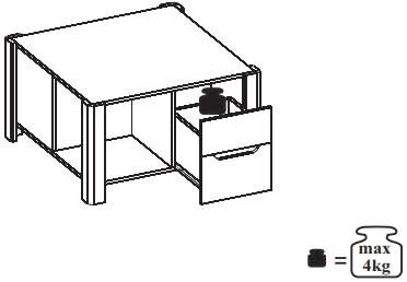 Desjo 41 stolik okolicznościowy z szufladami techniczne