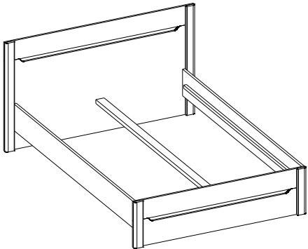 Desjo 53 łoże 160 cm techniczne