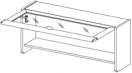 Dover 03 szafka z klapą wisząca techniczne