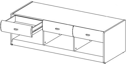 Dover 10 szafka rtv z szufladami techniczne