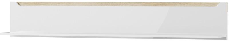 Ice 31 półka biały mat biały połysk ze wstawką dąb sonoma