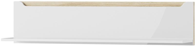 Ice 32 półka biały mat biały połysk ze wstawką dąb sonoma