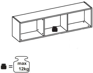 Ikar 31 regał 124 cm wiszący techniczne udźwig
