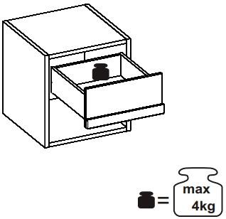 Ikar 51 szafka nocna z szufladą techniczne udźwig