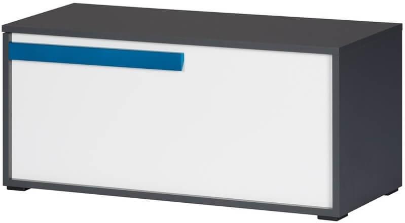 Ikar 52 skrzynia z klapą grafit biały