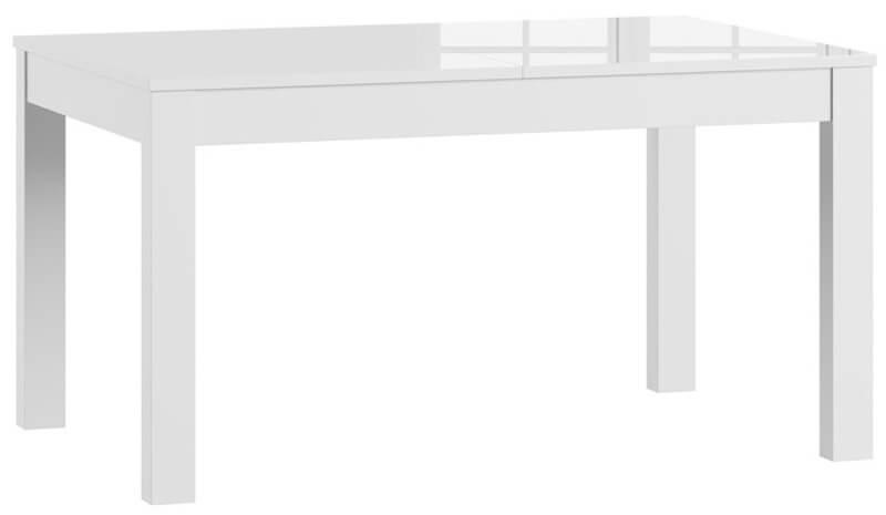 Jowisz stół 136-210 cm rozsuwany biały połysk