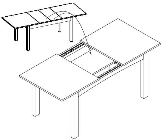Jowisz stół 136-210 cm rozsuwany techniczne