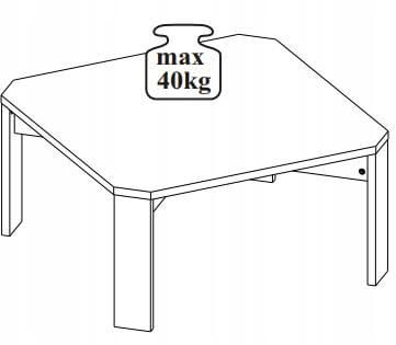 Lariano stolik 80 cm okolicznościowy techniczne
