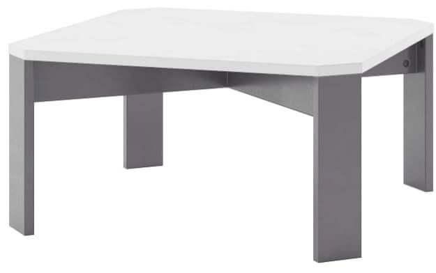 Lariano stolik 80 cm okolicznościowy biały mat czarny
