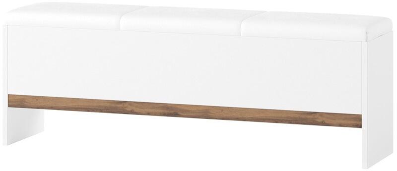 Livorno 65 ławka z pojemnikiem biały