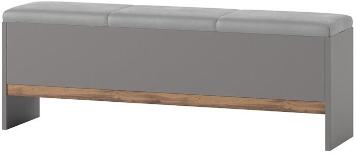 Livorno 65 ławka z pojemnikiem szary