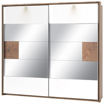Livorno 73 szafa dwudrzwiowa z lustrem biały