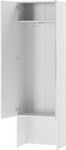 Lucca 08 szafa dwudrzwiowa z lustrem otwarta biały mat