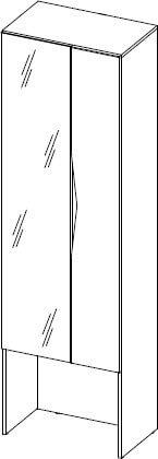 Lucca 08 szafa dwudrzwiowa z lustrem techniczny