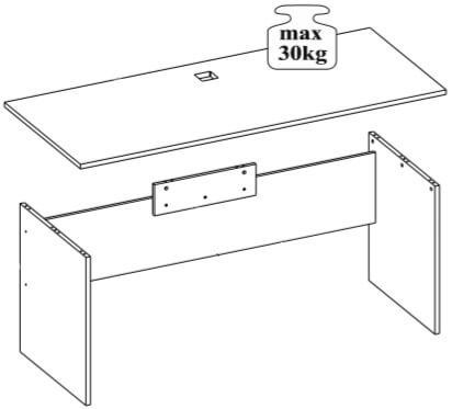 Omega 08 biurko 180 udźwig