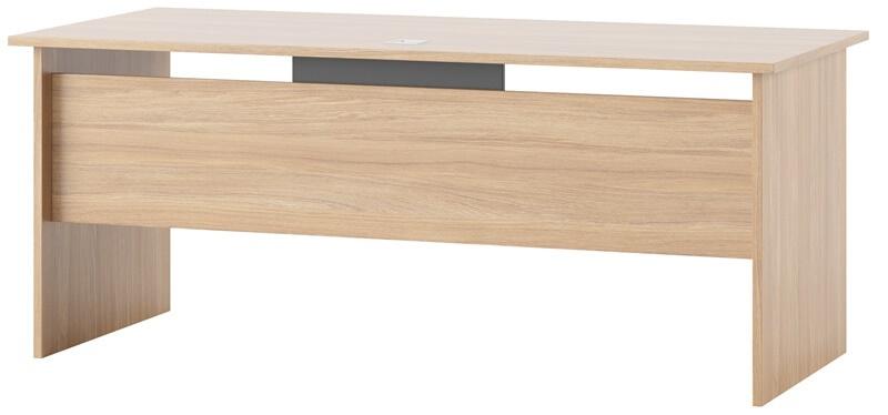 Omega 08 biurko 180 dąb bursztynowy grafit