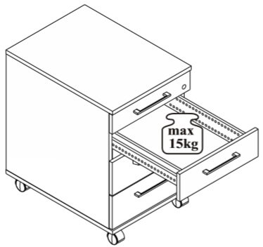 Omega 11 kontenerek z szufladami udźwig