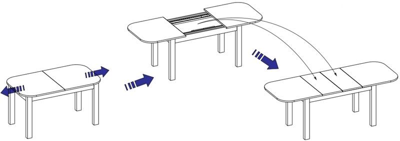 Rea stół 140-175-210 cm rozsuwany techniczne