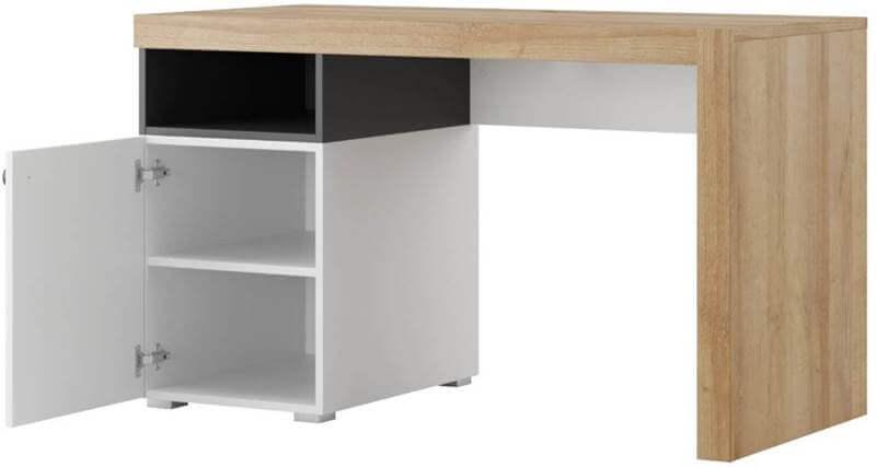 Riva 40 biurko otwarte dąb riviera biały mat