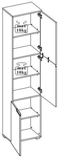 Selene 13 szafka dwudrzwiowa techniczny
