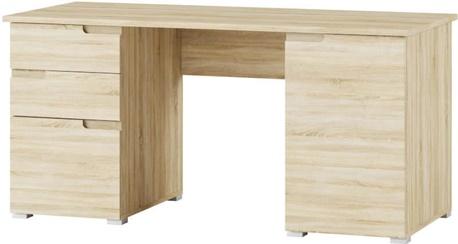 Selene 15 biurko przyścienne dwudrzwiowe z szufladami dąb sonoma