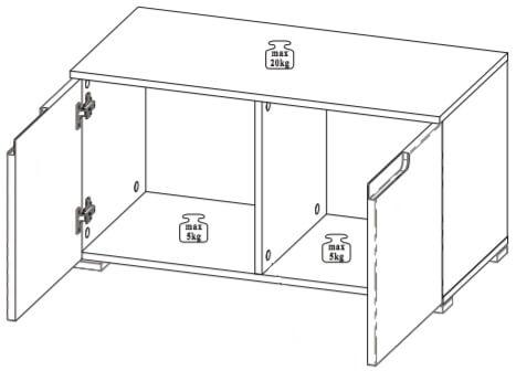 Selene 18 szafka dwudrzwiowa techniczny
