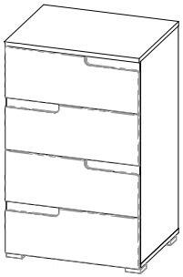 Selene 2 komoda z szufladami techniczne
