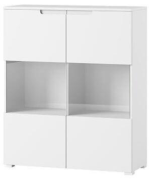 Selene 27 witryna dwudrzwiowa biały mat biały połysk