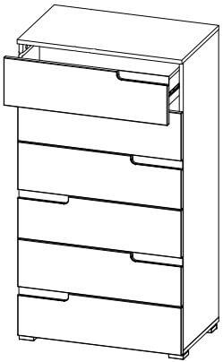 Selene 3 komoda z szufladami techniczne