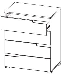 Selene 4 komoda z szufladami techniczne