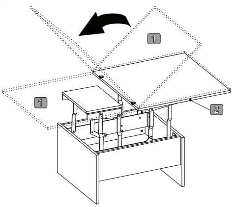 SPACE 1 stolik 80-160 cm okolicznościowy rozkładany techniczne