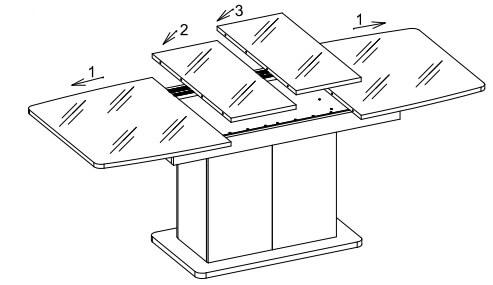 STAR 03 stół 140/210 cm kolumnowy rozsuwany techniczne