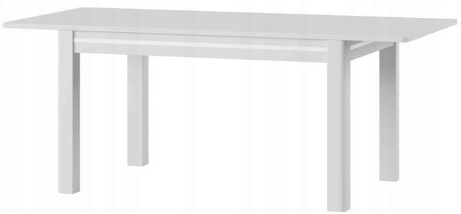 Sunny 1 stół 136-210 cm rozsuwany rozłożony biały połysk