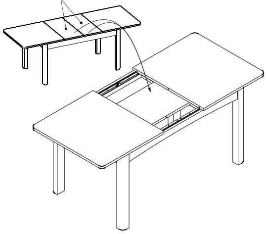 Sunny 1 stół 136-210 cm rozsuwany techniczne