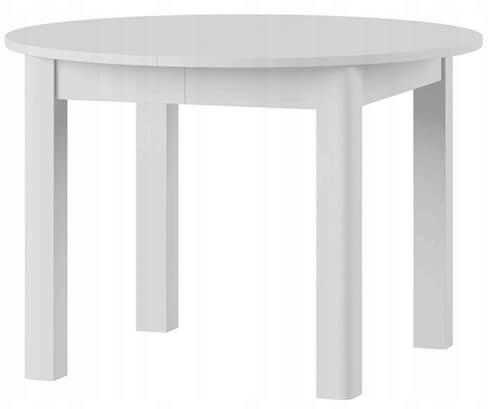 Uran 1 stół 110-160 cm rozsuwany biały mat