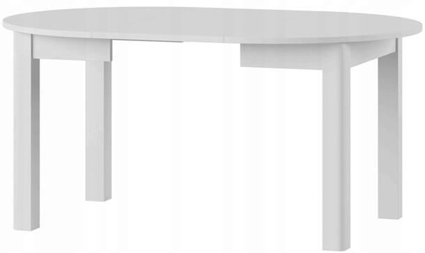 Uran 1 stół 110-160 cm rozsuwany rozłożony biały mat