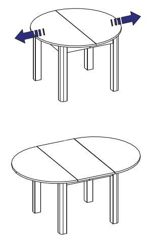 URAN 1 stół 110-160 cm rozsuwany techniczne