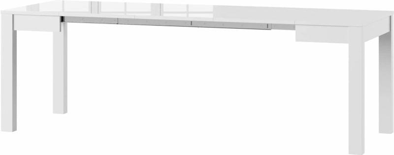 Vega stół 80-230 cm rozsuwany rozłożony biały połysk