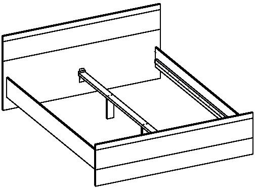 Wenecja 03 łóżko 160 cm techniczne