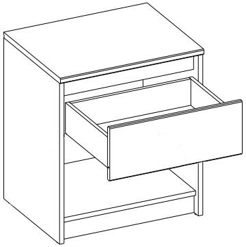 WENECJA 05 szafka nocna z szufladą techniczne