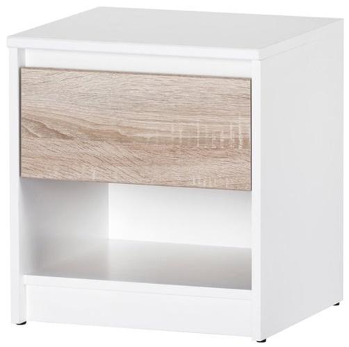WENECJA 05 szafka nocna z szufladą biały dąb sonoma
