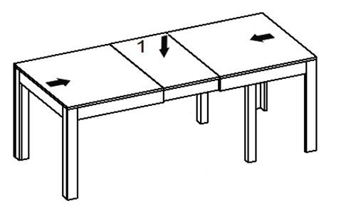 Wenus stół 160-300 cm rozsuwany techniczne