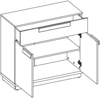 Wow 06 komoda dwudrzwiowa z szufladą techniczne