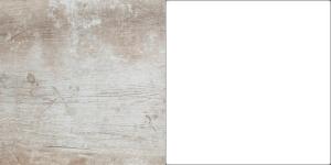 korpus: sosna vintage front: sosna vintage/biały mat