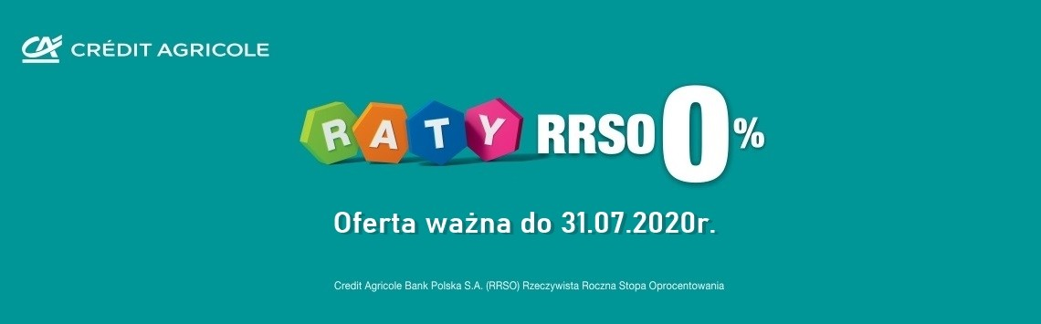Raty 0% z Credit Agricole